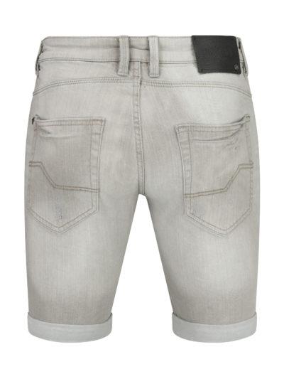 Indicode Kaden korte spijkerbroek grijs achter