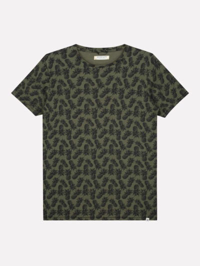 Dstrezzed_heren_t-shirts_Crew_pineapple_groen_1