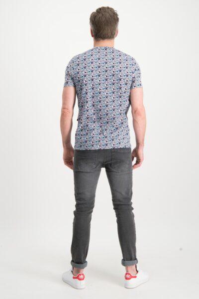 Haze&Finn_heren_t-shirts_Floral_printed_t-shirt_Indigo_3