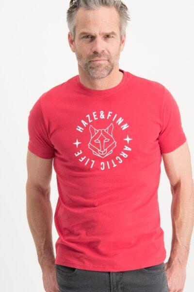 Haze&Finn_heren_t-shirts_Tee_Husky_HD_rood_1