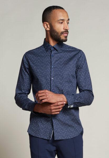 Dstrezzed_heren_Fancy_Shirt_tekst_stripe_lt._Stretch_Poplin_649_1