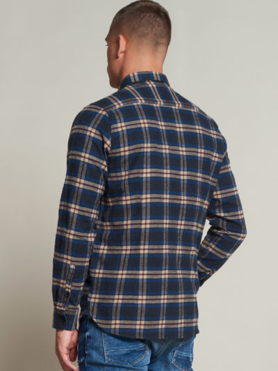 Dstrezzed_heren_Shirt_with_pockets_washed_check_flannel_2