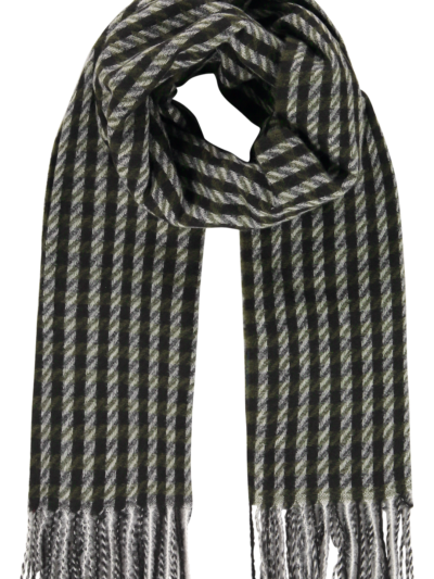 Sjaal Scarf Squares Black-Grey