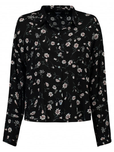 Bloomings dames bloem print blouse button down