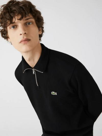 Lacoste sweater rits noir