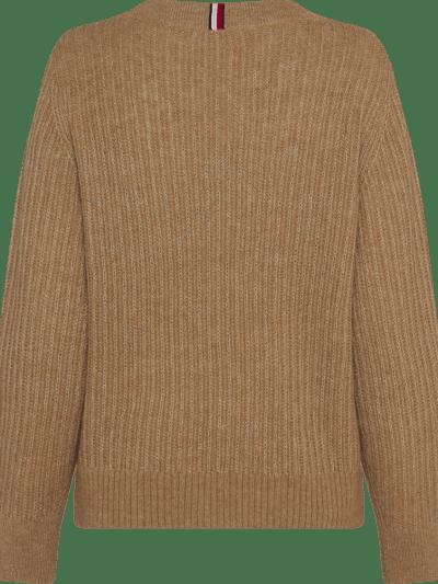 TommyHilfiger_dames_truien_Textured_Stitch_V-nk_Sweater_LS_GV7_2