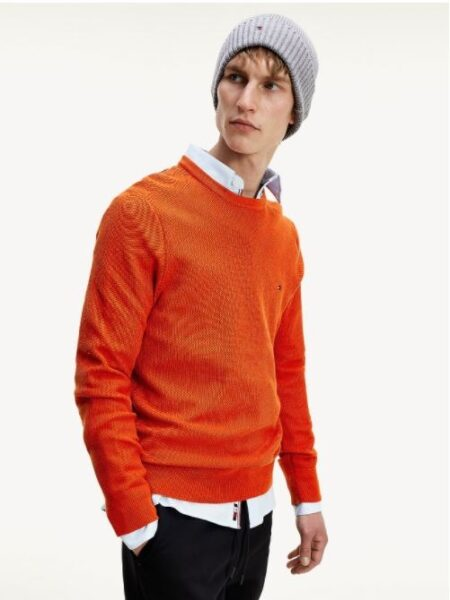 Tommy Hilfiger HONEYCOMB CREW NECK PULLOVER