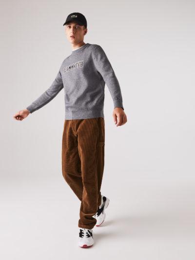 Lacoste crewneck patch sweater