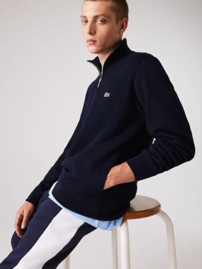 lacoste sweater rits marine
